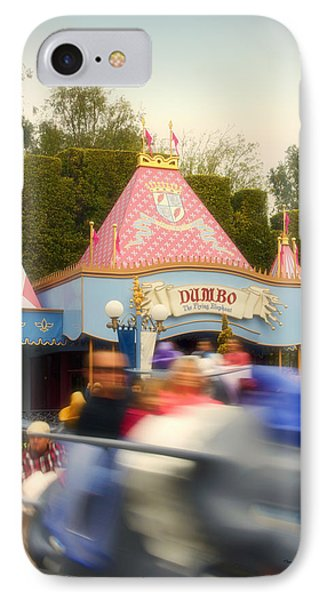 Dumbo Flying Elephants Fantasyland Signage Disneyland 02 IPhone Case by Thomas Woolworth