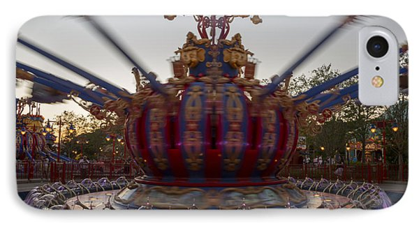 Dumbo The Flying Elephant Ride At Dusk IPhone Case