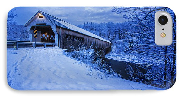 Dummerston Bridge In Winter IPhone Case