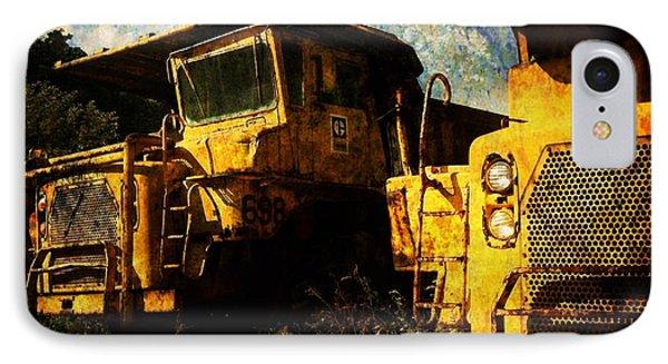 Dump Trucks Phone Case by Amy Cicconi