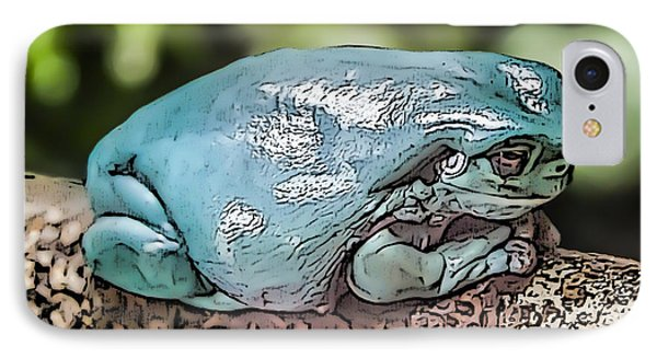 00014 Dumpy Tree Frog IPhone Case by Photographic Art by Russel Ray Photos