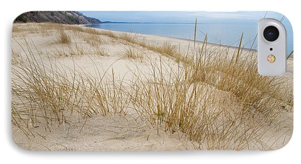 Dune Grass On Lake Michigan IPhone Case by Mary Lee Dereske
