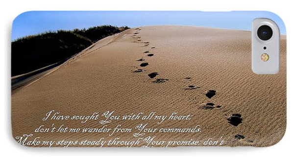 Dune Walk W/scripture 2 IPhone Case