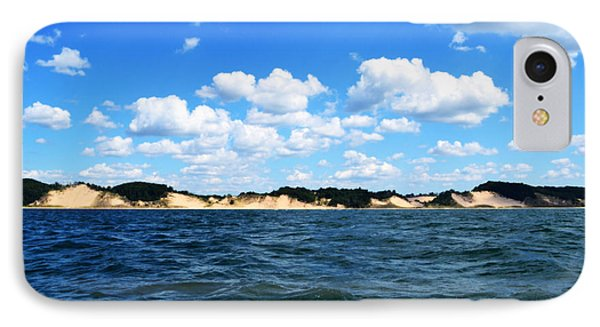 Dunes And Lake Michigan Phone Case by Michelle Calkins