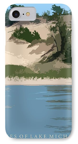 Dunes Of Lake Michigan Phone Case by Michelle Calkins