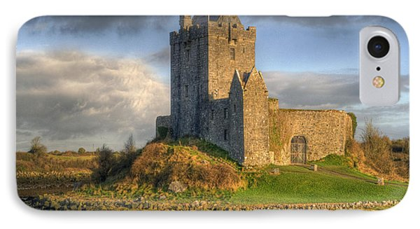 Dunguaire Castle With Dramatic Sky Kinvara Galway Ireland IPhone Case by Juli Scalzi