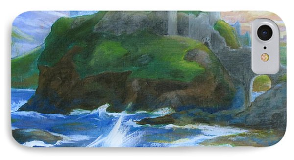 Dunscaith Castle - Shadows Of The Past IPhone Case by Samantha Geernaert