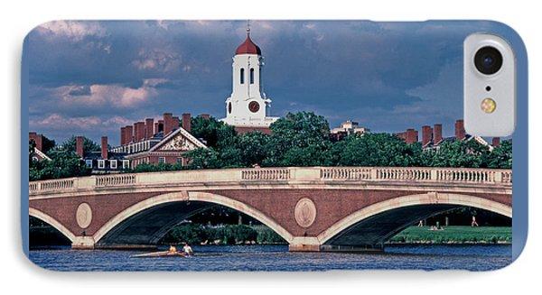 Weeks Bridge Charles River IPhone Case by Tom Wurl