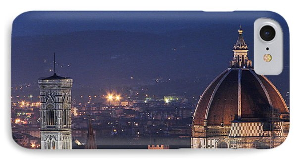 IPhone Case featuring the photograph Duomo At Night Florence Italy by Sally Ross
