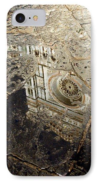 Duomo Reflected In Rain  I I IPhone Case