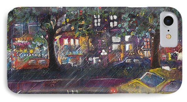 Dupont In The Rain IPhone Case by Leela Payne