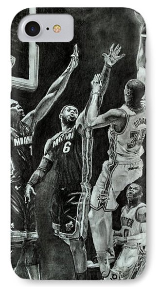 Durant For The Win IPhone Case by Ezra Strayer