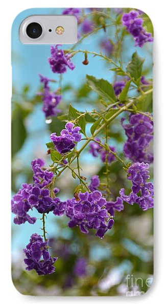 IPhone Case featuring the photograph Duranta- Fresh Morning by Darla Wood