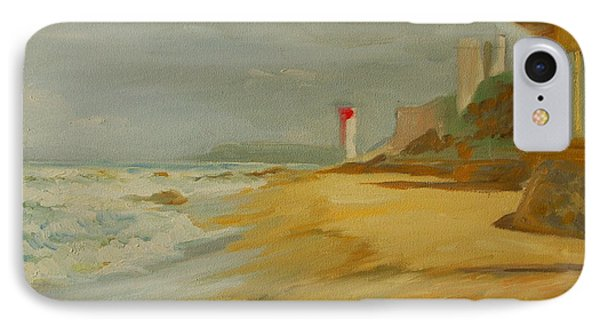IPhone Case featuring the painting Durban Light House by Thomas Bertram POOLE