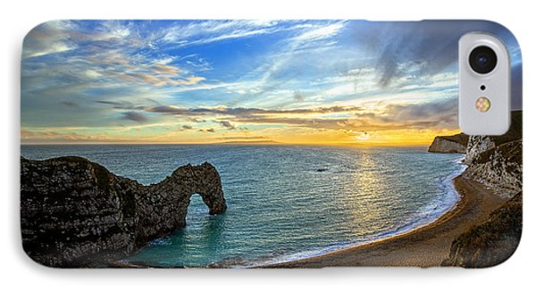 Durdle Door Sunset IPhone Case by Ian Good