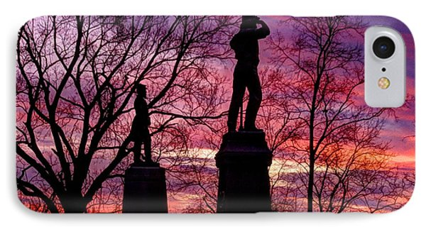 Durell's Independent Battery D And 48th Pa Volunteer Infantry-a1 Sunset Antietam Phone Case by Michael Mazaika