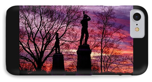 Durell's Independent Battery D And 48th Pa Volunteer Infantry-a1 Sunset Antietam IPhone Case