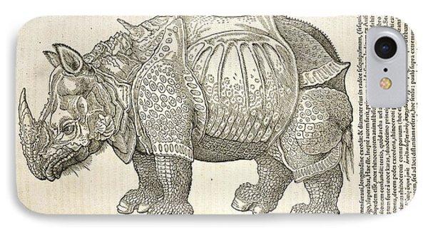 Durer's Rhinoceros, 16th Century IPhone Case