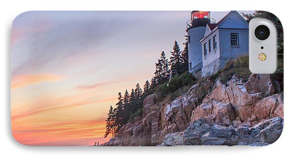 Dusk At Bass Harbor Light Phone Case by Stephen Beckwith