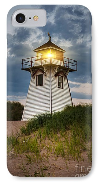 Dusk At Covehead Harbour Lighthouse IPhone Case