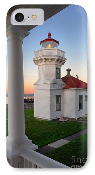 Dusk At Mukilteo Lighhouse IPhone Case by Inge Johnsson