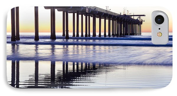 Dusk At Scripps Pier IPhone Case by Priya Ghose