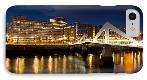 Dusk At Tradeston IPhone Case by Stephen Taylor