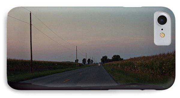 Dusk Between The Corn Stalks Phone Case by Paulette B Wright