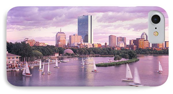 Dusk Boston Ma IPhone Case by Panoramic Images