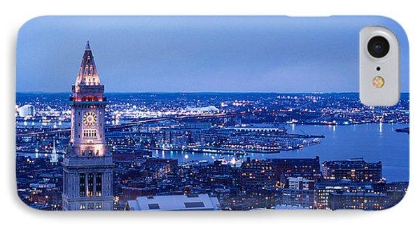 Dusk Boston Massachusetts Usa IPhone Case by Panoramic Images