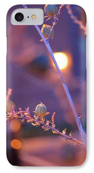 Dusk Flowers IPhone Case by Deprise Brescia