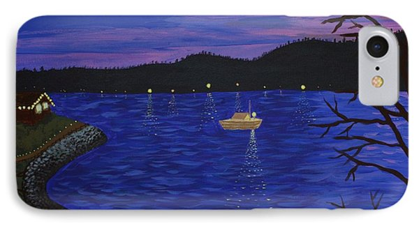 Dusk On Puget Sound Phone Case by Vicki Maheu