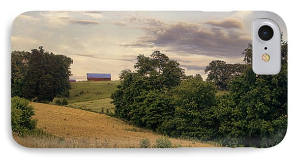 Dusk On The Farm Phone Case by Heather Applegate