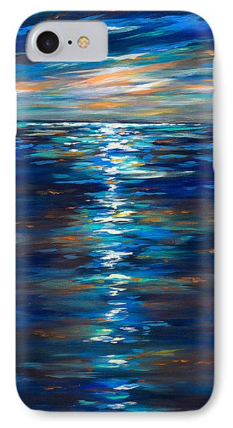 Dusk On The Ocean IPhone Case by Linda Olsen