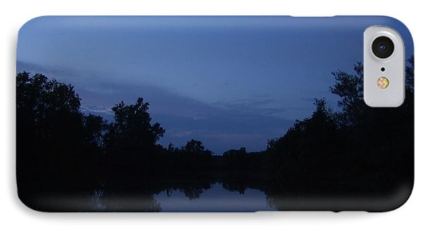 IPhone Case featuring the photograph Dusk On The River by Deborah DeLaBarre