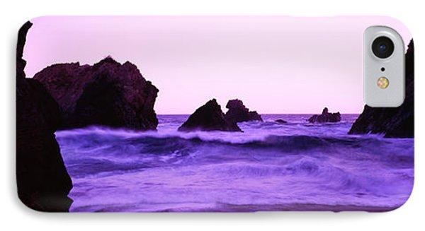 Dusk On The Santa Cruz Coastline IPhone Case by Panoramic Images