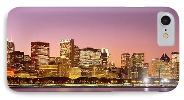 Dusk Skyline Chicago Il Usa IPhone Case by Panoramic Images