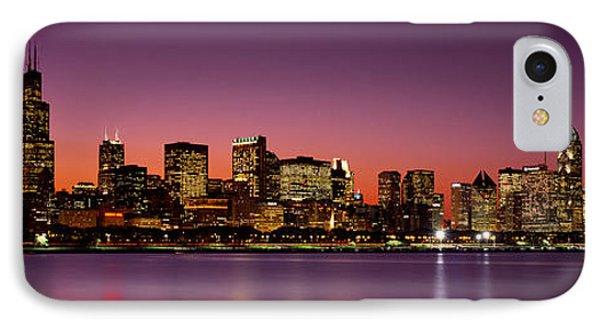 Dusk, Skyline, Chicago, Illinois, Usa IPhone Case by Panoramic Images