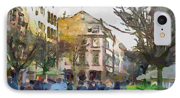 Dusseldorf Old Town Street 4 Phone Case by Yury Malkov
