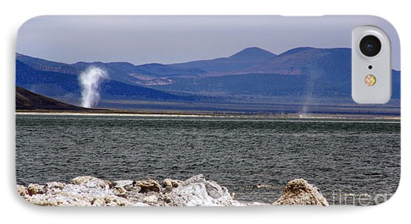 Dust Devils Of Mono Lake IPhone Case by Thomas Bomstad