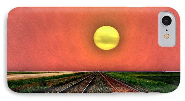 IPhone Case featuring the photograph Dustbowl Sunset by Larry Trupp