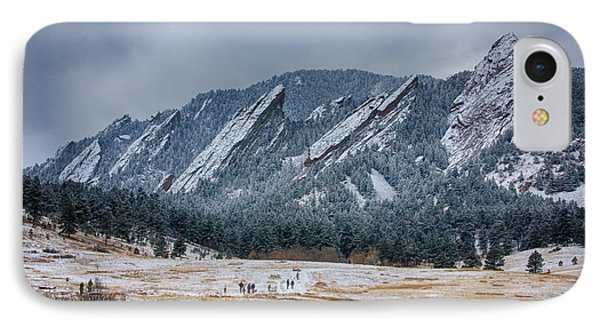 Dusted Flatirons Chautauqua Park Boulder Colorado IPhone Case by James BO  Insogna