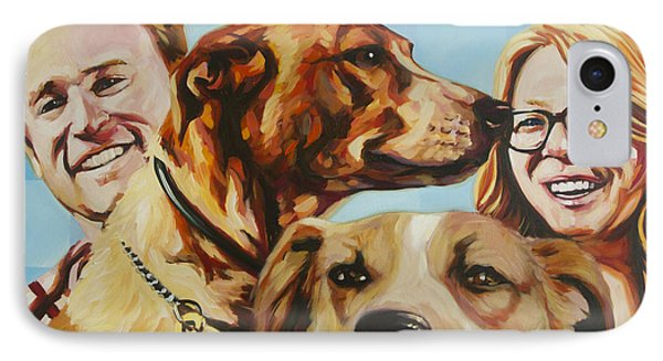 Dustin Maggie And Friends IPhone Case by Steve Hunter