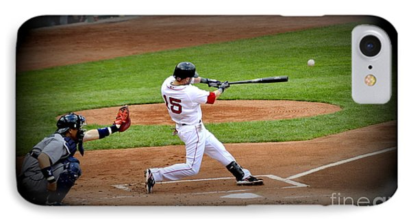 Dustin Pedroia 2 IPhone Case by Michael Jones
