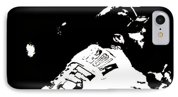 Dustin Pedroia Drawing IPhone Case by Rob Monte