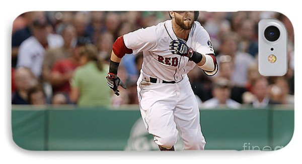 Dustin Pedroia IPhone Case by Marvin Blaine