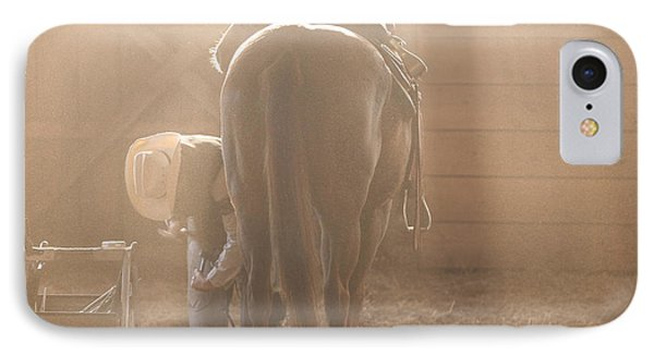 Dusty Morning Pedicure IPhone Case by Carol Lynn Coronios