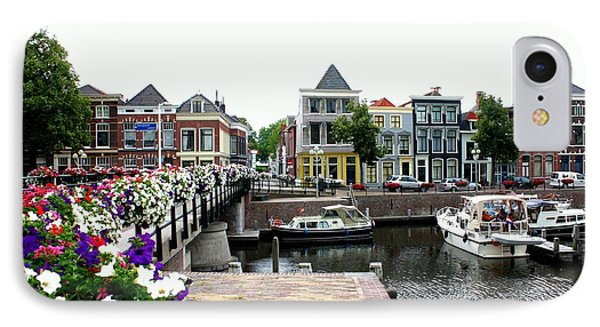 Dutch Cityscape With Boats Phone Case by Carol Groenen