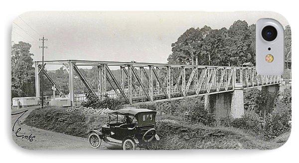 Dutch East Indies, Indonesia, Bridge Over Batang Toro Car IPhone Case
