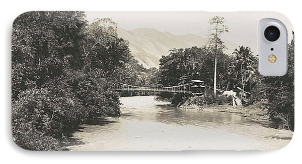 Dutch East Indies, Indonesia, River Godang With Suspension IPhone Case